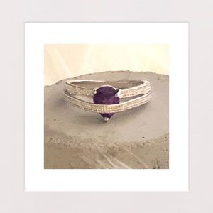 Jewelry - New | Amethyst, Diamond & Sterling Silver Ring